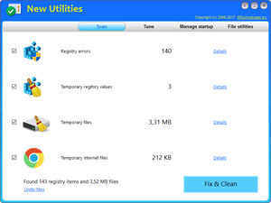 New Utilities screenshot